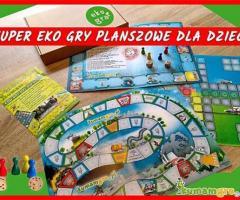 EKO GRY planszowe dla DZIECI na prezent - edukacyjna zabawa